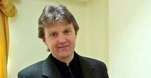 Alexander Litvinenko pictured at his London home in 2002