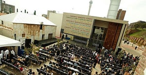 The constitutional court of South Africa in Johannesburg, which was controversially built on the site of a prison that housed many former apartheid prisoners.