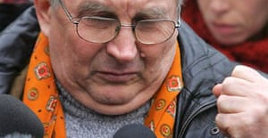 Walter Litvinenko, father of Alexander Litvinenko, speaks at a press conference outside UCL hospital in London