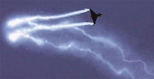 The European-designed Eurofighter jet