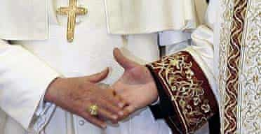 Pope Benedict XVI meets Turkey's chief Islamic cleric, Ali Bardokoglu