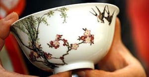 The bowl which bears the mark of the Qianlong emperor of 1736 to 1795