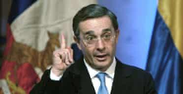 Colombia's president, Alvaro Uribe