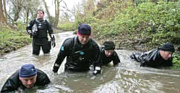 Police search a stream in Copdock, near Ipswich