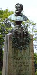 Georges Bizet's grave at the Père-Lachaise cemetery in Paris