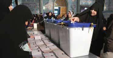Iranian women cast their ballots in last week's election