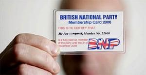 British National Party membership card