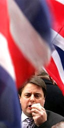 BNP leader Nick Griffin outside Leeds crown court
