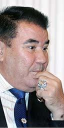 The late president of Turkmenistan Saparmurat Niyazov