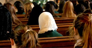 Girls from St Marylebone school in London attend a multi-faith assembly in church