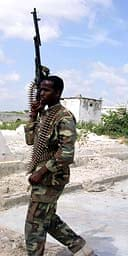 A soldier of the Somali Council of Islamic Courts militia