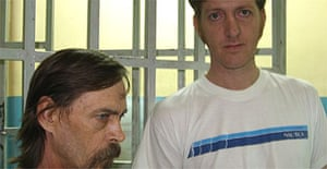 Mike Barnett and Mark Viljoen, inmates at Los Teques prison