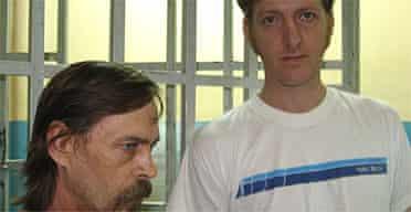 Mike Barnett and Mark Viljoen, inmates at Los Teques prison