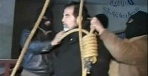 Saddam before his execution