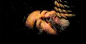 Saddam Hussein hanging from a noose after execution in Baghdad early on Saturday, in a photograph seemingly taken by camera phone and obtained from an Arab-language website