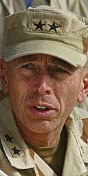 The US commander in Iraq, David Petraeus.