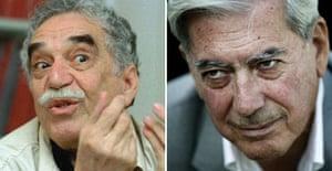 Gabriel García Márquez (l) and Mario Vargas Llosa