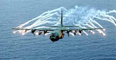A US air force AC-130 gunship like the one reported to have attacked sites in Somalia
