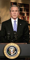 George Bush concludes his televised address on the war in Iraq