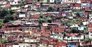 The La Planicie slum in Caracas, Venezuela