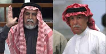 Saddam's half-brother and former intelligence chief Barzan Ibrahim al-Tikriti (r) and Awad Hamed al-Bandar, the former head of the revolutionary court that ordered 148 Shia villagers executed