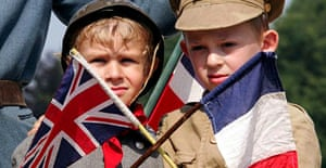 French boys mark the 90th anniversary of the Battle of the Somme last July