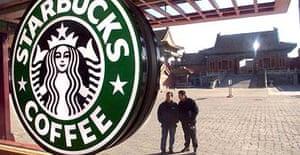 A Starbucks coffee shop in the Forbidden City, Beijing