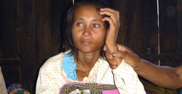 A Cambodian woman relatives claim is Rochom Pngieng, who disappeared in the remote jungles in the north of the country 19 years ago