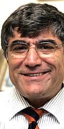 Journalist Hrant Dink in his Istanbul office in November
