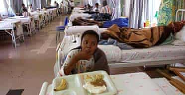 A patient suffering from TB at a hospital in Soweto