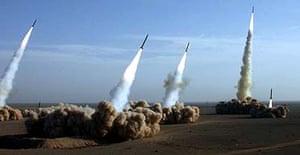 Iran's elite Revolutionary Guards test missiles