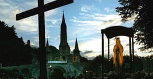 An evening pilgrimage to the sanctuary at Lourdes, where Therese Kearney had hoped to cure her cancer