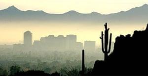 Smog above Phoenix, Arizona