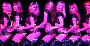 Dancers at the Crazy Horse Paris cabaret in Singapore
