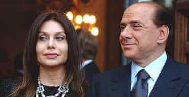 Silvio Berlusconi and his wife Veronica Lario.