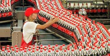 A Coca-Cola production plant in Germany