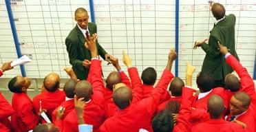 Traders on the floor of the Nairobi stock exchange