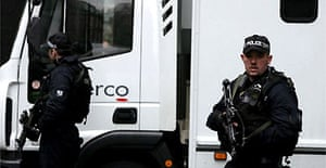 Five terror suspects arrive at Westminster magistrates court