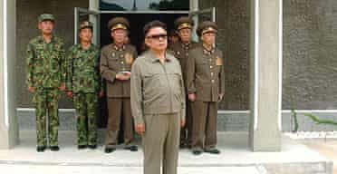 North Korean leader Kim Jong Il inspecting a KPA (Korean Peoples Army) unit.