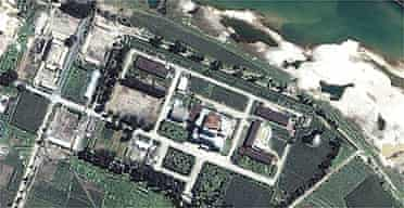 Satellite image of Yongbyon nuclear plant north of Pyongyang, North Korea
