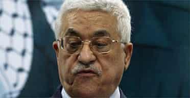 The Palestinian president, Mahmoud Abbas