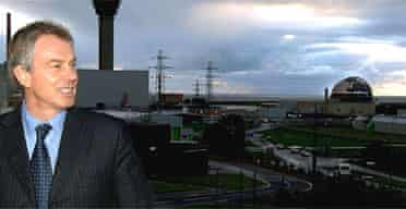 Tony Blair at a visit to the Sellafield nuclear power plant