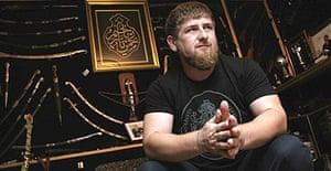 Ramzan Kadyrov, the president of Chechnya