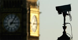 A CCTV camera next to Big Ben