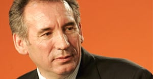 The French centre-right leader and president of Union for French Democracy (UDF) party François Bayrou
