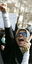 A Tehran student supports the nuclear programme
