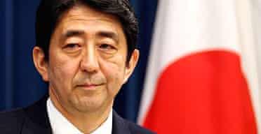 The Japanese prime minister, Shinzo Abe