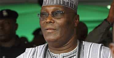 Nigerian vice-president Atiku Abubakar
