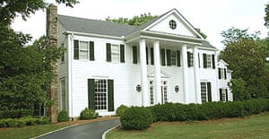 Former US vice-president Al Gore's home in Nashville's exclusive Belle Meade district, Tennessee.