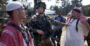 Americans get to grip with Arab culture during a wargame in Fort Polk, Louisiana